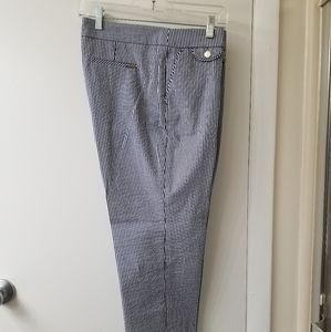 NWOT! Anne Klein, dark blue stripped cropped pants